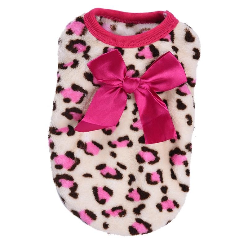 Fleece Trui Luipaard print Roze maat 8