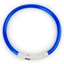 LED Halsband Flash Blauw 35 cm