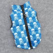 Chihuahua jas gewatteerd Blue Skull XS