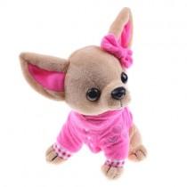 Chihuahua Knuffel met Roze Trui