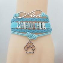 Chihuahua Love Armband Blauw