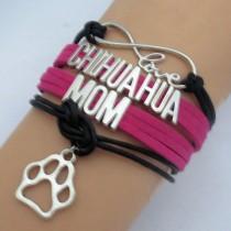 Chihuahua Mom Armband Fuchsia