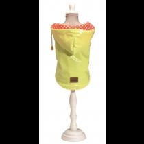 Croci Hondenjas Regenjas Raindrop Lemon Geel maat XS