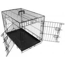 Doginox Bench 2-Deurs Zwart 78x49x56,5 cm