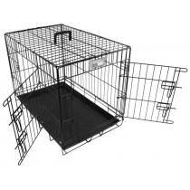 Doginox Bench 2-Deurs Zwart 93x57,5x65 cm