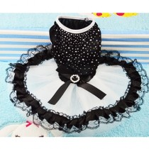 Chihuahua jurk Black & White S
