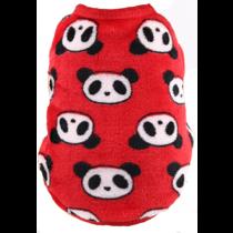 Fleece Trui Panda print Rood XXS