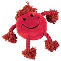 Happy Pet Faces Pluche Smiley Rood