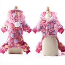 Chihuahua Jumpsuit Pink Paws maat XS