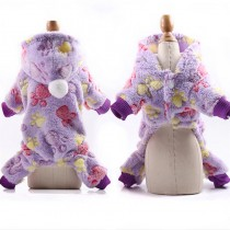 Chihuahua Jumpsuit Purple Paws maat XS