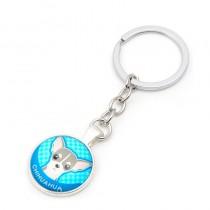 Chihuahua Sleutelhanger Blauw