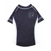 Croci T-Shirt Hond Surfing Zwart / Wit / Lichtblauw maat L