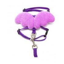 Chihuahua Harnas Purple Wings met Riem maat XS