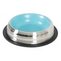 Zolux Voerbak / Drinkbak Merenda Rvs Antislip Blauw 15,5 cm