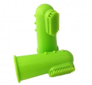 Vingertandenborstel Groen